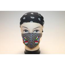 Rubikos szájmaszk színes/2kocka