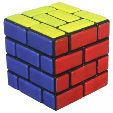 Cubetwist Burr 4x4x4 Bandaged Cube Black