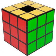 Rubik kocka mintás zsebkendőtartó doboz, 14,6 cm
